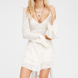 Free People XS 0 Embroidered Babydoll Dress